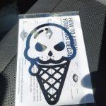 Cute skull ice cream Decals