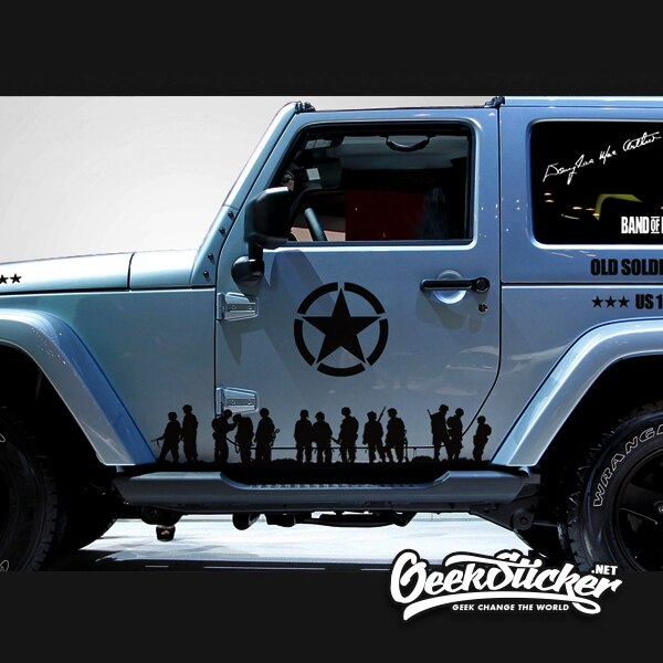 Five-Pointed JEEP Star decal-4