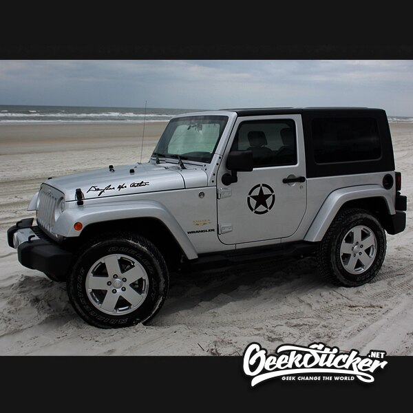 Five-Pointed JEEP Star decal-3