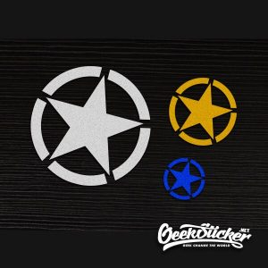 Five-Pointed JEEP Star decal-6