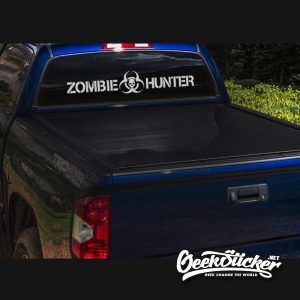 Zombie Hunter Windshield decal sticker