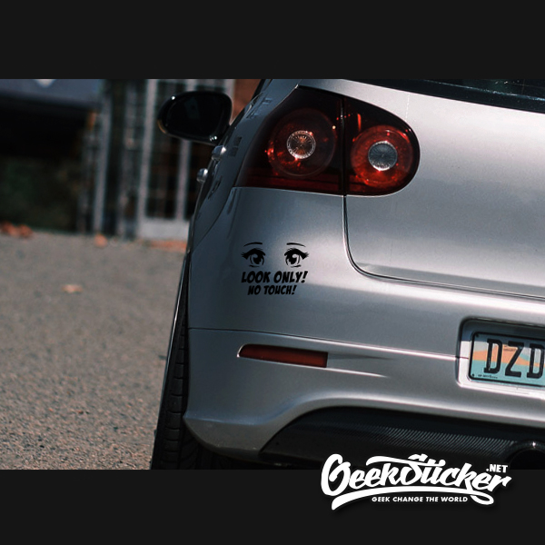 Look Only! No touch! JDM Wave Tuner Car Vinyl Drift Decal Sticker
