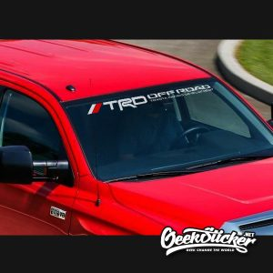 TRD Windshield Decal