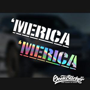 Merica Windshield Sticker