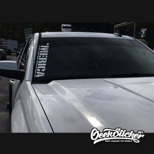 Merica Windshield Sticker
